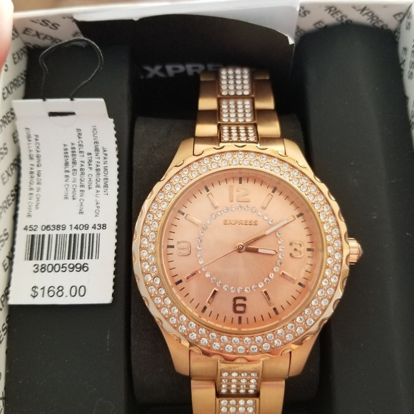 70 off Express Jewelry 1409 Rose Gold Watch Poshmark